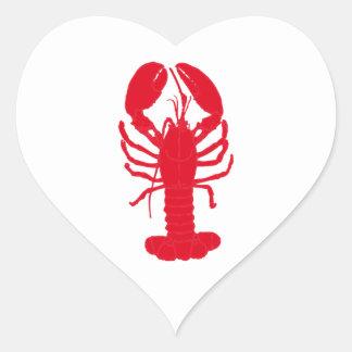 Red Lobster Tales Heart Sticker