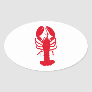 Red Lobster Tales Oval Sticker