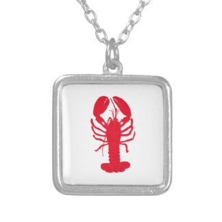 Red Lobster Tales Silver Plated Necklace