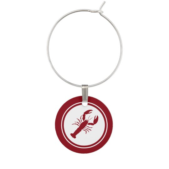 Red Lobster wine charm