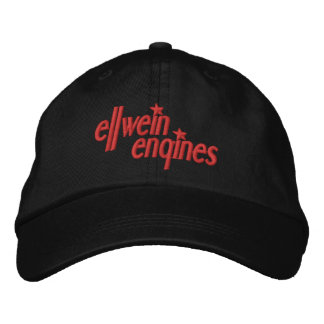 Red Logo Ellwein Engines Ball Cap