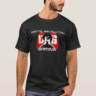 Red Logo T-Shirt: Men's Black T-Shirt