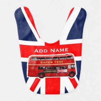 Red London Bus Baby Bib