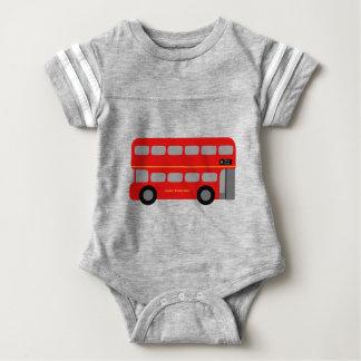 Red London Bus Baby Bodysuit