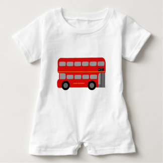 Red London Bus Baby Romper