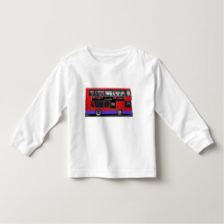 Red London Bus Double Decker Toddler T-shirt