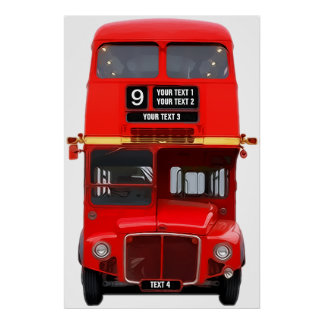 Red London Bus Poster Print