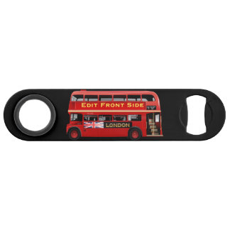 Red London Bus Themed Bar Key