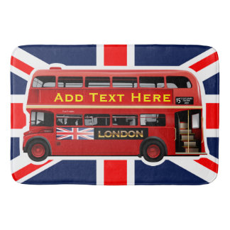 Red London Bus Themed Bathroom Mat