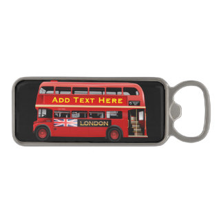 Red London Bus Themed Magnetic Bottle Opener