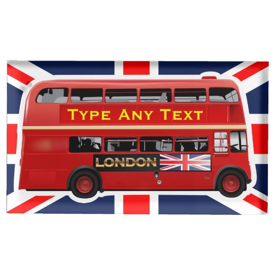 Red London Bus Themed Table Card Holders