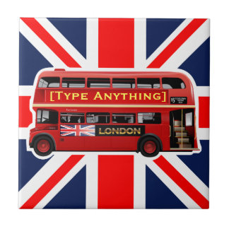 Red London Bus Themed Tiles