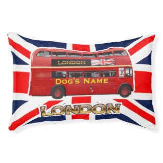 Red London Double Decker Bus Pet Bed