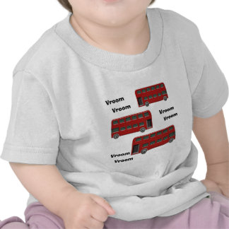 Red London Double-Decker Bus Print T-shirts