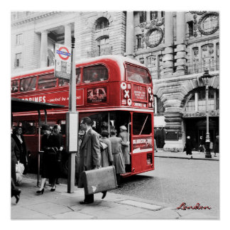 Red London Double Decker Poster