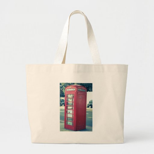 Red London Telephone Box Bags
