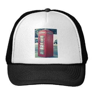 Red London Telephone Box Trucker Hat