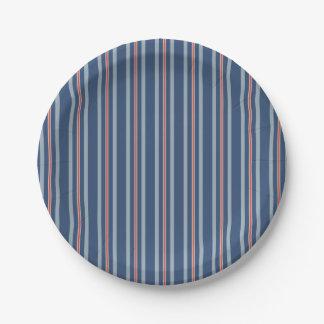 red lone stripe paper plate
