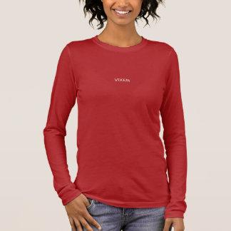 Red, long-sleeved, t-shirt, VIXEN Long Sleeve T-Shirt