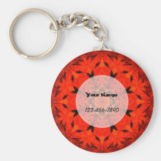 Red Lotus Keychain