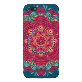 Red Lotus Mandala iPhone 5 Cases