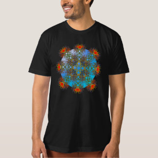 Red Lotus on a Blue Orb T-Shirt