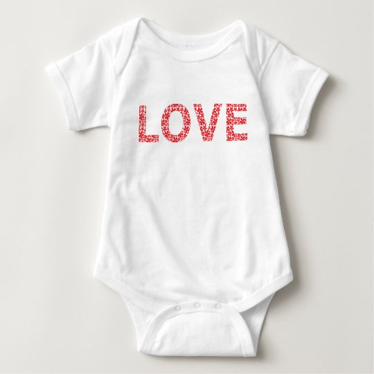 RED LOVE BABY BODYSUIT
