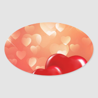 Red-Love-Background-Vector-Illustration Stickers