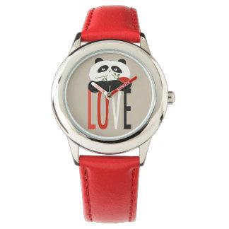 Red Love Cute Panda Bear Romantic Sweet Girly Chic Watch