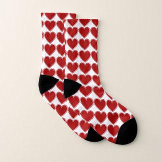 Red Love Heart Pattern Romantic 1