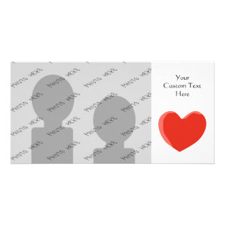 Red Love Heart Personalized Photo Card