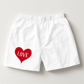 Red love heart Valentine Boxers