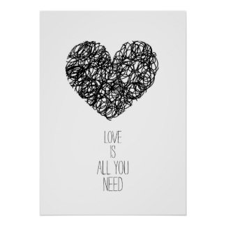 Red Love Is All You Need Valentine's day Poster