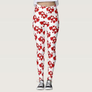 Red lovely harts  Leggings