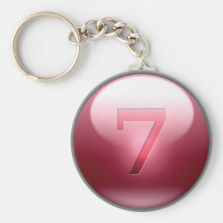 Red Lucky 7 Keychain