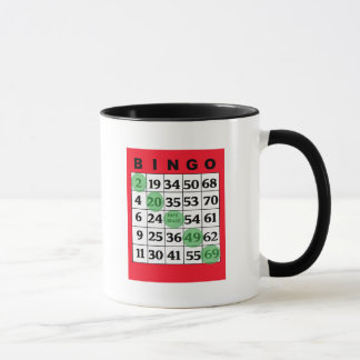 Red Lucky BINGO Card Mug
