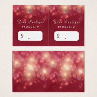 Red Luxe Bokeh Sparkle Elegant Boutique Hang Tags