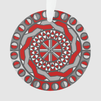 Red Machinery Acrylic Ornament