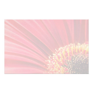 Red Macro Gerbera Daisy Flower Customized Stationery