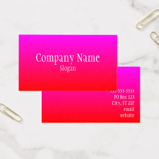 Red Magenta Ombre Business Card