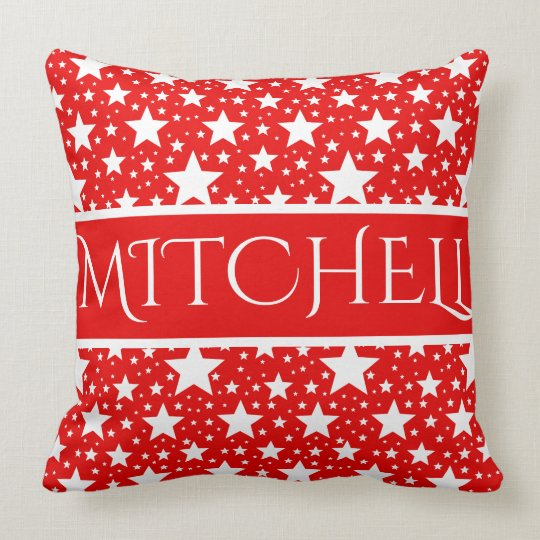 Red Magic Personalized Throw Pillow
