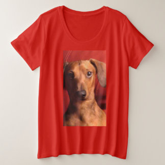 RED MAGNIFICENT MICKEY DACHSHUND T-SHIRT