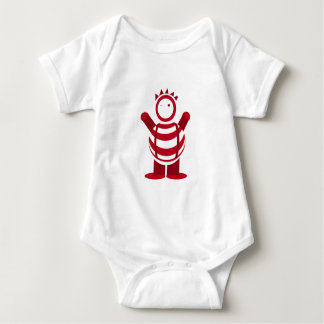 Red man baby bodysuit