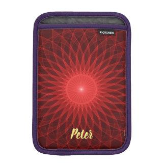 Red Mandala iPad Mini Sleeve