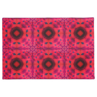 Red Mandala Kaleidoscope Doormat