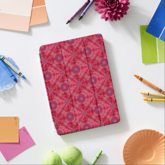 Red Mandala Kaleidoscope iPad Pro Cover