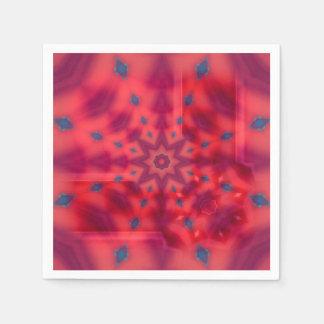 Red Mandala Paper Napkin