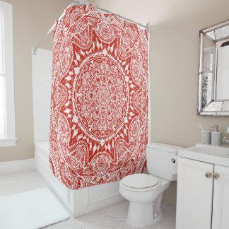 Red mandala pattern