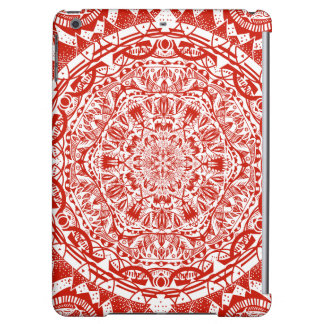 Red mandala pattern case for iPad air