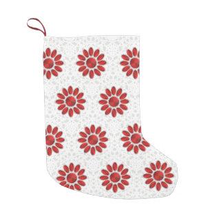 Red Mandala Pattern Christmas Socks 3 (Platinum)